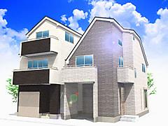 国立市泉4丁目新築2棟現場の販売を開始しました。1号棟は3階建ガレージ仕様です。
